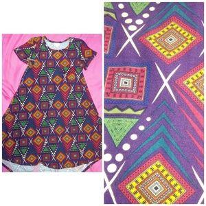 Carly dress XS lularoe leggings fabric